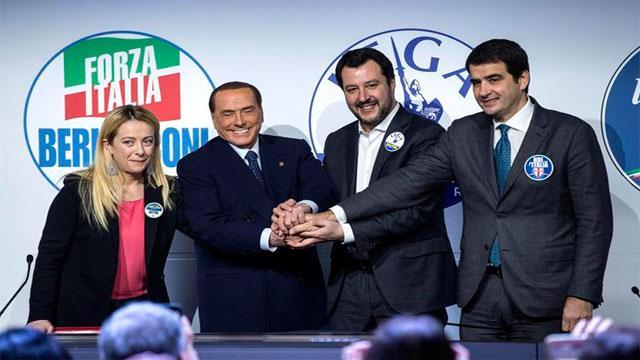 Risultati immagini per Italia: coalición de derecha liderada por Berlusconi gana las elecciones